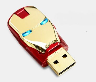 CHIAVETTA USB PENDRIVE 16GB AVENGER MARVEL IRON MAN OCCHI LUMINOSI IDEA REGALO